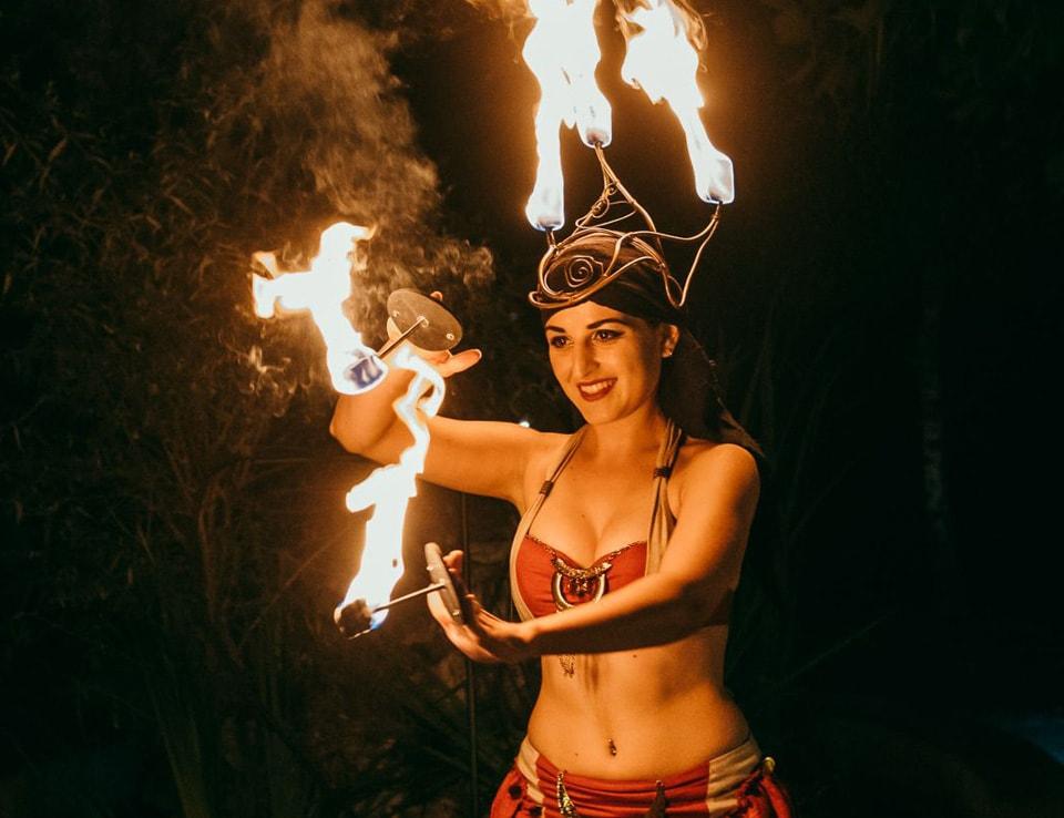 Огнено шоу подарък за рожден ден